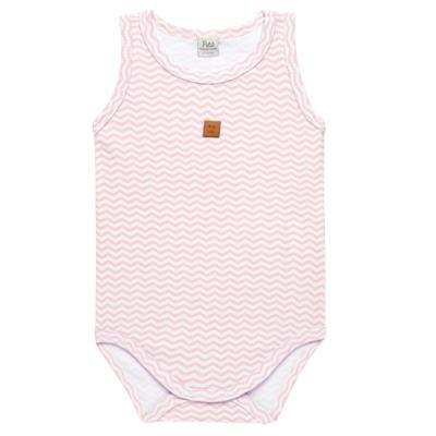 Imagem 1 do produto Body regata para bebe em suedine Ovelhinha Rosa - Petit - 01194344 BODY REGATA AVULSO SUEDINE OVELHA FEM-P