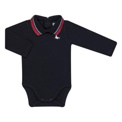 Imagem 1 do produto Body Polo longo em cotton touch Marinho - Mini Sailor