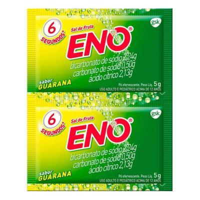 Imagem 2 do produto Sal de Fruta Eno Efervescente Guaraná 2 sachês de 5g -