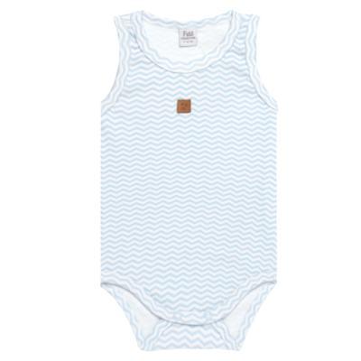 Imagem 1 do produto Body regata para bebe em suedine Ovelhinha Azul - Petit - 01194345 BODY REGATA AVULSO SUEDINE OVELHA MASC-RN