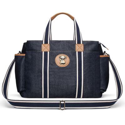Imagem 3 do produto Bolsa Passeio para bebe + Bolsa Albany +  Frasqueira Térmica Gold Coast + Porta Mamadeira + Trocador Portátil Adventure Jeans - Classic for Baby Bags