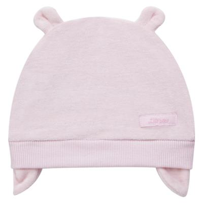 Imagem 1 do produto Touca Orelhinha para bebe em plush Rosa - Tilly Baby
