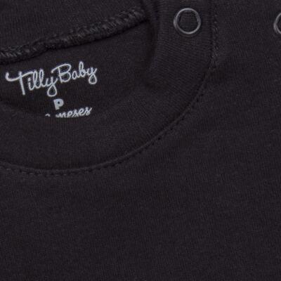 Imagem 2 do produto Body longo para bebe em suedine Preto - Tilly Baby - TB13111.08 BODY LONGO DE SUEDINE PRETO-1