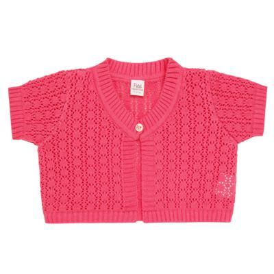 Imagem 1 do produto Bolero curto para bebe em tricot Pink - Petit - 75614423 Bolero m/c Tricot/Can Rosa Candy-1