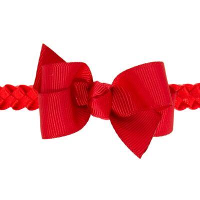 Imagem 2 do produto Faixa de cabelo trançada Laço Vermelha - Roana - 23840020007 FAIXA TRANÇADA ESPECIAL VERMELHO