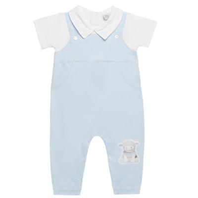 Imagem 1 do produto Macacão Jardineira para bebe em viscomfort suedine Ovelhinha Azul - Petit - 22234345 MACACAO JARDINEIRA MC SUEDINE/CO OVELHA MASC-M