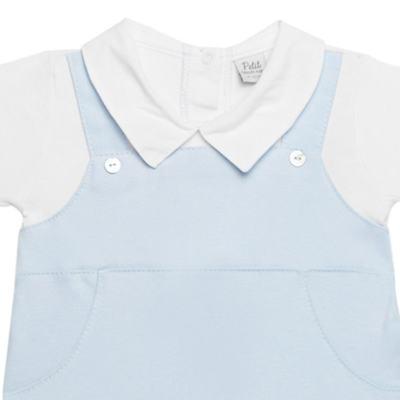 Imagem 2 do produto Macacão Jardineira para bebe em viscomfort suedine Ovelhinha Azul - Petit - 22234345 MACACAO JARDINEIRA MC SUEDINE/CO OVELHA MASC-M