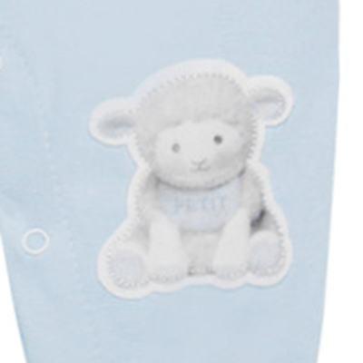 Imagem 3 do produto Macacão Jardineira para bebe em viscomfort suedine Ovelhinha Azul - Petit - 22234345 MACACAO JARDINEIRA MC SUEDINE/CO OVELHA MASC-M