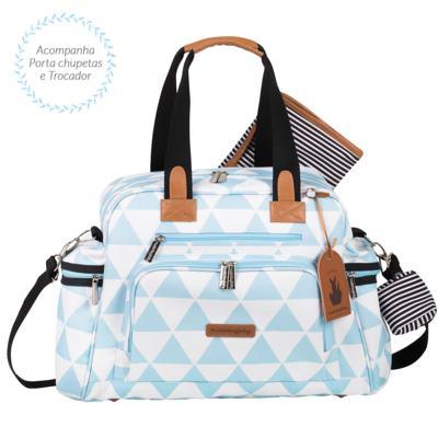 Imagem 3 do produto Mala Maternidade com Rodízio + Bolsa Everyday + Frasqueira térmica Emy + Mochila Noah Manhattan Azul - Masterbag