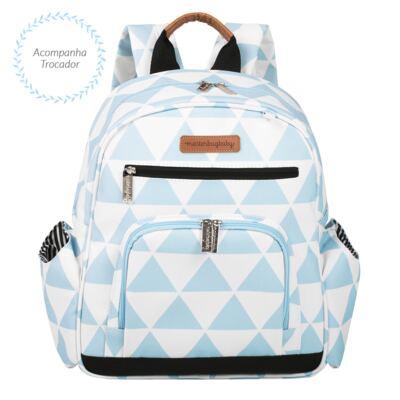 Imagem 4 do produto Mala Maternidade com Rodízio + Bolsa Everyday + Frasqueira térmica Emy + Mochila Noah Manhattan Azul - Masterbag