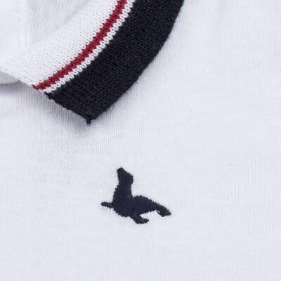 Imagem 2 do produto Body Polo longo em cotton touch Branco - Mini Sailor