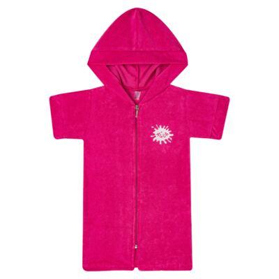 Imagem 1 do produto Roupão atoalhado com capuz Pink - Cara de Criança - RO2166 ROUPAO PINK RO ROUPAO ATOALHADO-6