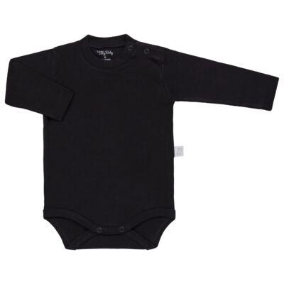 Imagem 1 do produto Body longo para bebe em suedine Preto - Tilly Baby - TB13111.08 BODY LONGO DE SUEDINE PRETO-GG