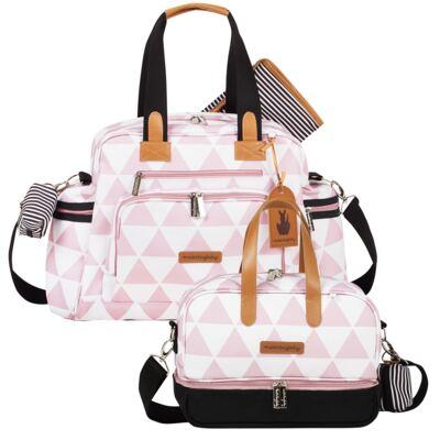 Imagem 1 do produto Bolsa Everyday + Frasqueira térmica Vicky Manhattan Rosa - Masterbag