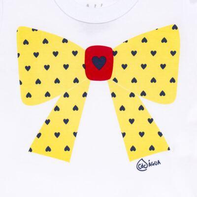 Imagem 3 do produto Conjunto de Banho Coraçõezinhos: Camiseta + Maiô + Tiara - Cara de Criança - KIT 1 1883CCA+M CORACOES-3