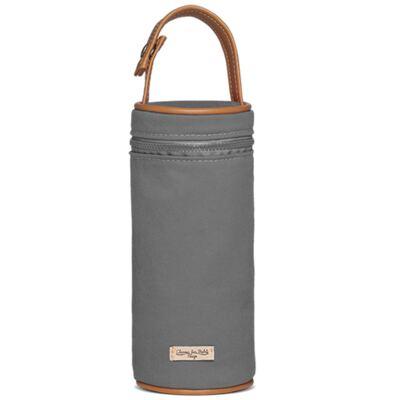 Imagem 3 do produto Bolsa Maternidade para Ibiza + Porta Mamadeira  em sarja Adventure Chumbo - Classic for Baby Bags