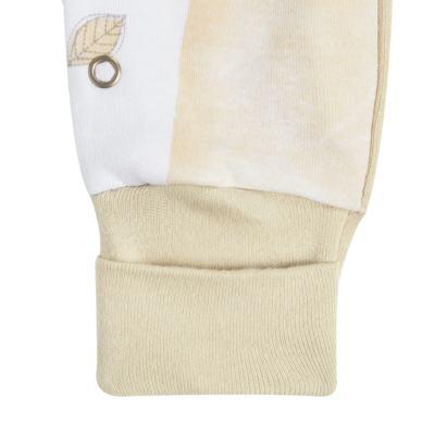 """Imagem 3 do produto Macacão longo c/ abertura """"S"""" para bebe em algodão egípcio Nature Little Friends - Mini & Classic - MCPR650 MACACAO S C/ PE REVERSIVEL SUEDINE NATURE-P"""