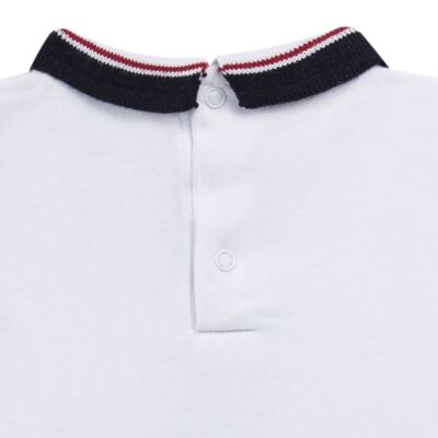 Imagem 3 do produto Body Polo longo em cotton touch Branco - Mini Sailor