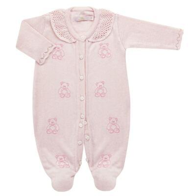 Imagem 1 do produto Macacão c/ golinha para bebe em tricot Bellamy - Petit - 21864279 MACACAO C/ GOLA TRICOT ROSA BEBE-M