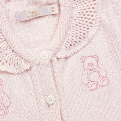 Imagem 2 do produto Macacão c/ golinha para bebe em tricot Bellamy - Petit - 21864279 MACACAO C/ GOLA TRICOT ROSA BEBE-M