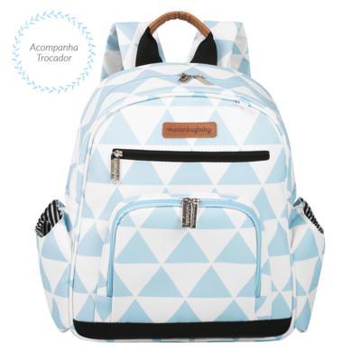 Imagem 4 do produto Mala Maternidade com Rodízio  + Bolsa Everyday  + Frasqueira térmica Emy + Mochila Noah + Necessaire Manhattan Azul - Masterbag