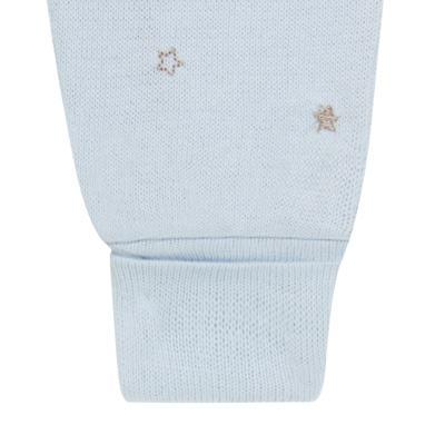 """Imagem 3 do produto Macacão longo com abertura """"S"""" para bebe em tricot Lapin - Petit - 22344420 Macacão ML Masc Tricot Azul -RN"""