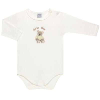 Imagem 2 do produto Pack 2 Bodies longos para bebe em suedine Ursinho - Petit - 10424346 PACK 2 BODIES M/L SUEDINE URSO NEUTRO-GG