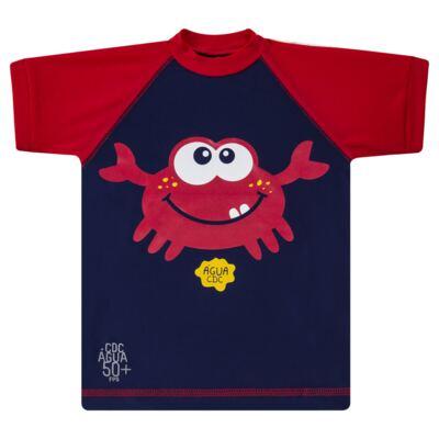 Imagem 2 do produto Conjunto de Banho Caranguejo: Camiseta surfista + Sunga - Cara de Criança - KIT 2 2903: SB2903 + CSA2903 SUNGA E CAMISETA CARANGUEIJO-2