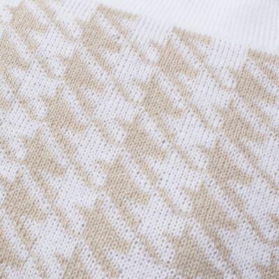 Imagem 9 do produto Kit Berço: Rolinhos Laterais  + Rolinho Cabeceira + Manta + Segura nenê + Almofada Retangular Pied Poule Caqui - Petit