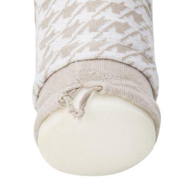 Imagem 15 do produto Kit Berço: Rolinhos Laterais  + Rolinho Cabeceira + Manta + Segura nenê + Almofada Retangular Pied Poule Caqui - Petit