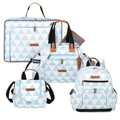Imagem 1 do produto Mala maternidade Vintage + Bolsa Everyday + Frasqueira térmica Emy + Mochila Noah Manhattan Azul - Masterbag