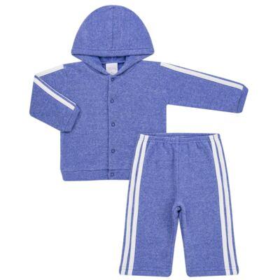 Imagem 1 do produto Casaco c/ capuz e Calça para bebe em soft Azul - Tilly Baby - TB0172020.09 CONJ. CASACO COM CALÇA SOFT AZUL-G