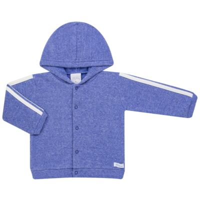 Imagem 2 do produto Casaco c/ capuz e Calça para bebe em soft Azul - Tilly Baby - TB0172020.09 CONJ. CASACO COM CALÇA SOFT AZUL-G