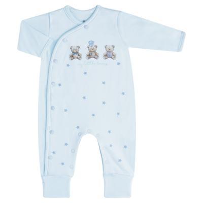 """Imagem 1 do produto Macacão longo c/ abertura """"S"""" para bebe em algodão egípcio Prince Bear - Mini & Classic - 2004656 MACACAO S C/ PE REVERSIVEL SUEDINE URSO-M"""