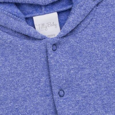 Imagem 3 do produto Casaco c/ capuz e Calça para bebe em soft Azul - Tilly Baby - TB0172020.09 CONJ. CASACO COM CALÇA SOFT AZUL-GG