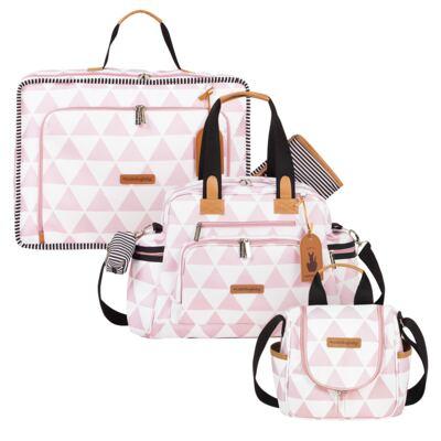 Imagem 1 do produto Mala maternidade Vintage + Bolsa Everyday + Frasqueira Emy Manhattan Rosa - Masterbag