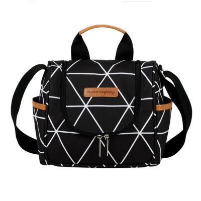 Imagem 4 do produto Mala Maternidade com Rodízio  + Bolsa Everyday  + Frasqueira térmica Emy + Mochila Noah + Necessaire Manhattan Preta - Masterbag
