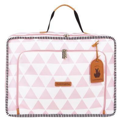 Imagem 2 do produto Mala maternidade Vintage + Bolsa 4 em 1 Sofia + Frasqueira térmica Vicky + Mochila Noah Manhattan Rosa - Masterbag