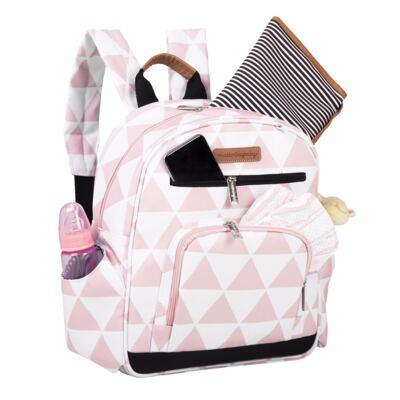 Imagem 6 do produto Mala maternidade Vintage + Bolsa 4 em 1 Sofia + Frasqueira térmica Vicky + Mochila Noah Manhattan Rosa - Masterbag