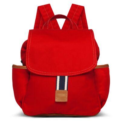 Imagem 2 do produto Mochila maternidade + Trocador Portátil + Porta Mamadeira + Necessaire Adventure em sarja Vermelha - Classic for Baby Bags