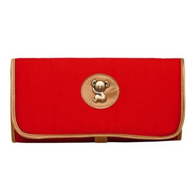 Imagem 3 do produto Mochila maternidade + Trocador Portátil + Porta Mamadeira + Necessaire Adventure em sarja Vermelha - Classic for Baby Bags