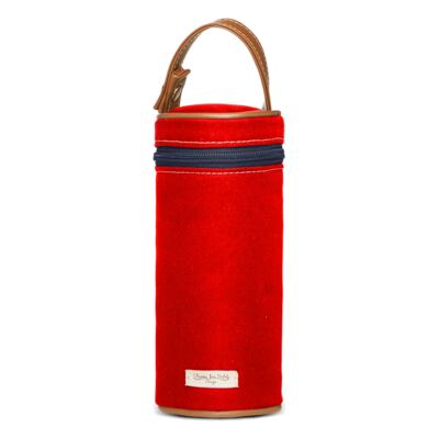 Imagem 5 do produto Mochila maternidade + Trocador Portátil + Porta Mamadeira + Necessaire Adventure em sarja Vermelha - Classic for Baby Bags