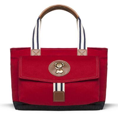 Imagem 4 do produto Bolsa Passeio p/ bebe + Bolsa Melbourne + Térmica Brisbane + Necessaire + Trocador + Porta Mamadeira sarja Adventure Vermelha - Classic for Baby Bags