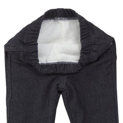 Imagem 5 do produto Calça para bebe forrada em fleece & pelúcia Dark Denim - Mini & Classic - CLCF4169 CALÇA C/ FORRO FLEECE/ MAL PUG-G