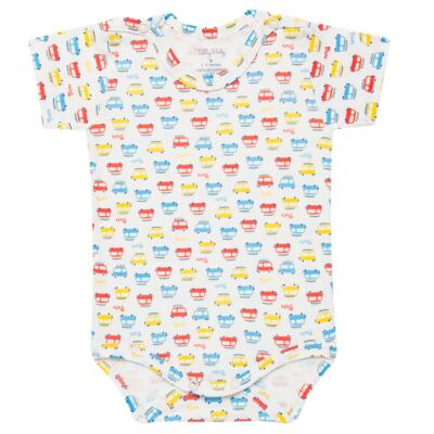 Imagem 2 do produto Kits 2 Bodies curtos para bebe em malha Carrinhos - Tilly Baby - TB16813 BODY MC MASC 2 PÇS CARRINHOS-GG
