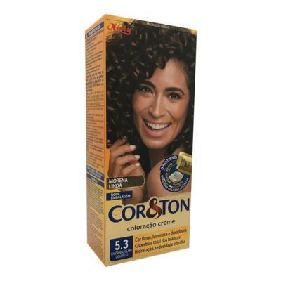 Imagem 1 do produto Coloração Creme Cor & Ton Niely Castanho Claro Dourado 5.3