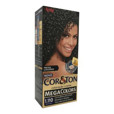 Coloração Creme Cor&Ton Mega Colors Preto Onix