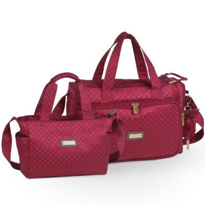 Imagem 1 do produto Bolsa Anne + Frasqueira Alice Paris Bordô - Masterbag