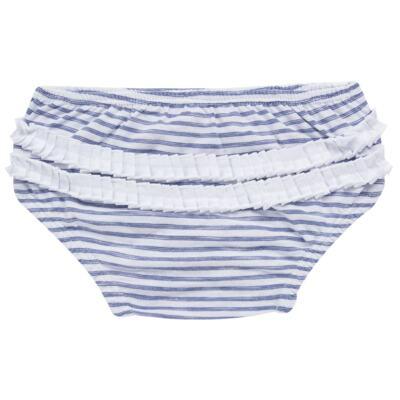 Imagem 7 do produto Vestido com Calcinha para bebe em malha Navy - Tilly Baby - TB168201 CONJ FEMININO VESTIDO C/ CALCINHA LISTRADO-P