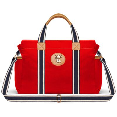 Imagem 3 do produto Bolsa Passeio para bebe + Bolsa Albany + Frasqueira Térmica Gold Coast Adventure em sarja Vermelha - Classic for Baby Bags
